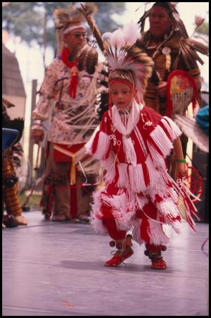 Primary view of object titled '[Texas American Indian Heritage Society Dancers]'.