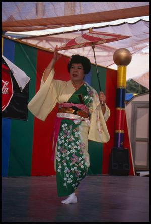 Primary view of object titled '[Japanese Dancer from Matsuri Dance Group]'.