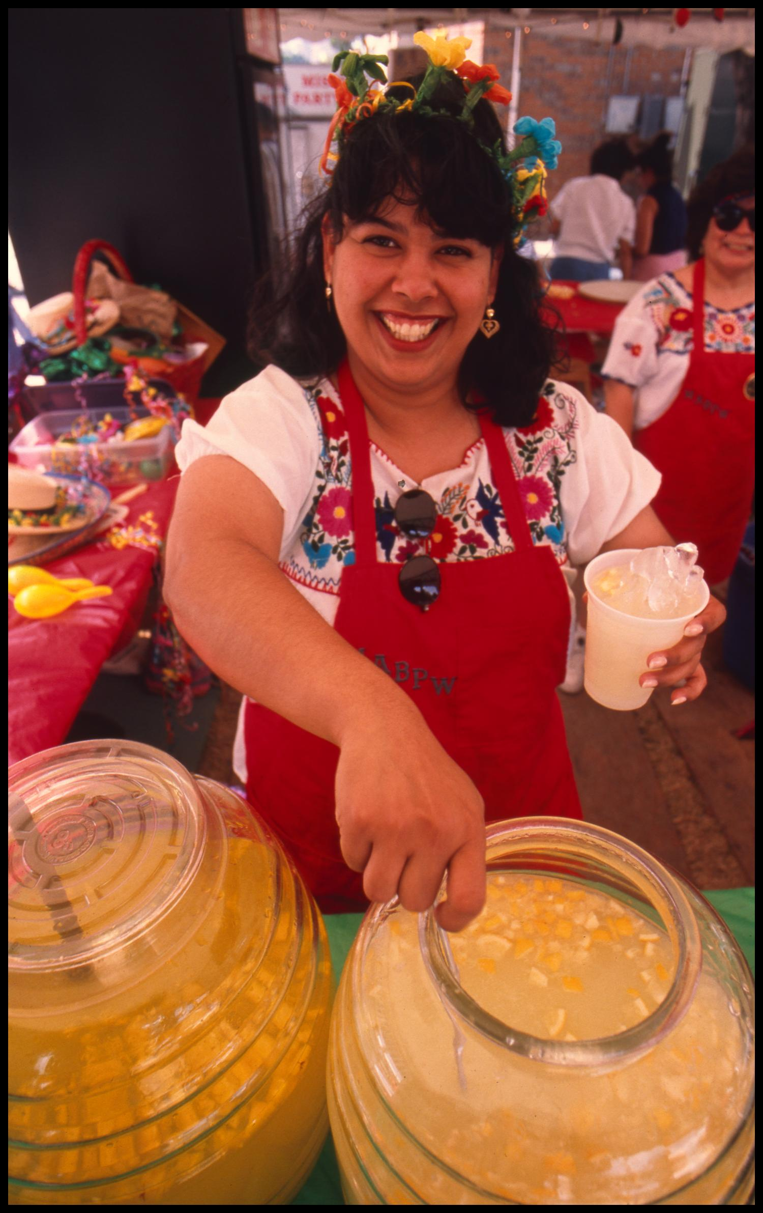 Aguas Frescas At The Mexican American Business And Professional Women Booth The