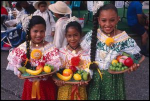 Primary view of object titled '[Fruit Vendors in the Mexican Market]'.
