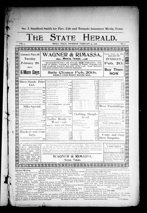Primary view of object titled 'The State Herald (Mexia, Tex.), Vol. 7, No. 7, Ed. 1 Thursday, February 15, 1906'.