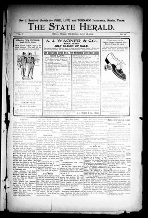 Primary view of object titled 'The State Herald (Mexia, Tex.), Vol. 7, No. 26, Ed. 1 Thursday, June 28, 1906'.