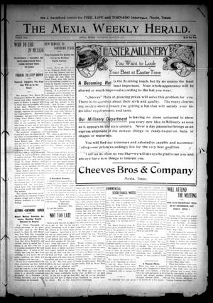 Primary view of object titled 'The Mexia Weekly Herald (Mexia, Tex.), Vol. 12, Ed. 1 Thursday, March 30, 1911'.
