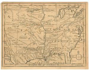 Primary view of Untitled map of Louisiana, Virginia and Carolina