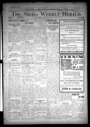 Primary view of object titled 'The Mexia Weekly Herald (Mexia, Tex.), Vol. 12, Ed. 1 Thursday, August 10, 1911'.