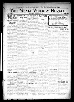 Primary view of object titled 'The Mexia Weekly Herald (Mexia, Tex.), Vol. 13, Ed. 1 Thursday, January 4, 1912'.