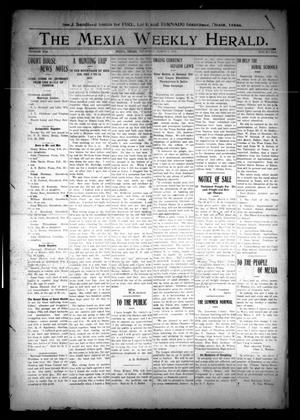 Primary view of object titled 'The Mexia Weekly Herald (Mexia, Tex.), Vol. 13, Ed. 1 Thursday, March 7, 1912'.