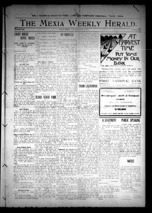 Primary view of object titled 'The Mexia Weekly Herald (Mexia, Tex.), Vol. 13, Ed. 1 Thursday, July 18, 1912'.