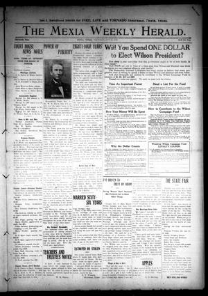 Primary view of object titled 'The Mexia Weekly Herald (Mexia, Tex.), Vol. 13, Ed. 1 Thursday, October 17, 1912'.