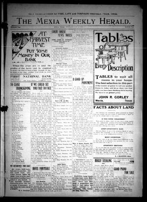 Primary view of object titled 'The Mexia Weekly Herald (Mexia, Tex.), Vol. 13, Ed. 1 Thursday, November 21, 1912'.