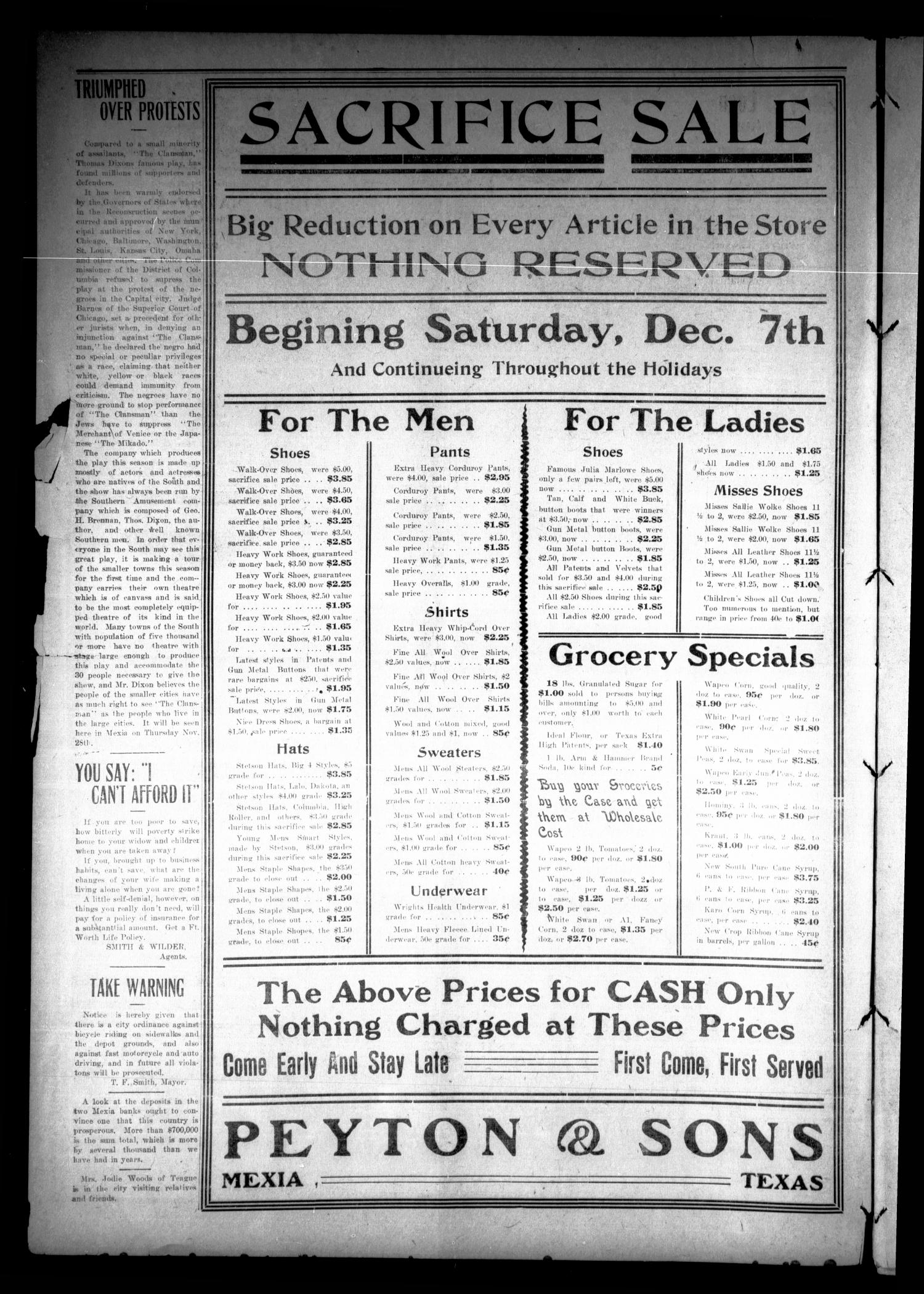 The Mexia Weekly Herald (Mexia, Tex.), Vol. 13, Ed. 1 Thursday, December 5, 1912                                                                                                      [Sequence #]: 2 of 8