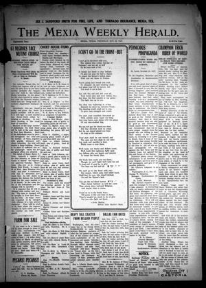 Primary view of object titled 'The Mexia Weekly Herald (Mexia, Tex.), Vol. 18, Ed. 1 Thursday, October 25, 1917'.