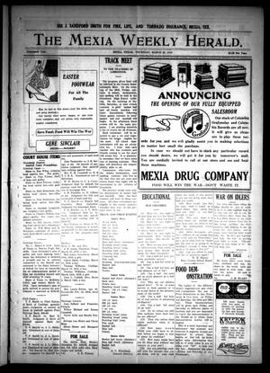 Primary view of object titled 'The Mexia Weekly Herald (Mexia, Tex.), Vol. 19, Ed. 1 Thursday, March 28, 1918'.