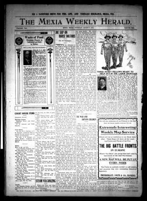 Primary view of object titled 'The Mexia Weekly Herald (Mexia, Tex.), Vol. 19, Ed. 1 Thursday, March 7, 1918'.