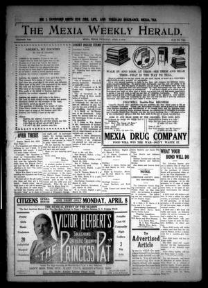 Primary view of object titled 'The Mexia Weekly Herald (Mexia, Tex.), Vol. 19, Ed. 1 Thursday, April 4, 1918'.