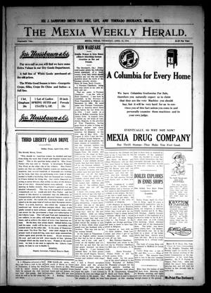 Primary view of object titled 'The Mexia Weekly Herald (Mexia, Tex.), Vol. 19, Ed. 1 Thursday, April 18, 1918'.