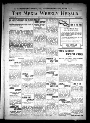 Primary view of object titled 'The Mexia Weekly Herald (Mexia, Tex.), Vol. 19, Ed. 1 Thursday, May 9, 1918'.