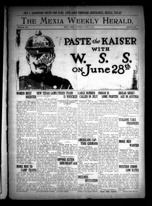 The Mexia Weekly Herald (Mexia, Tex.), Vol. 19, Ed. 1 Thursday, June 27, 1918