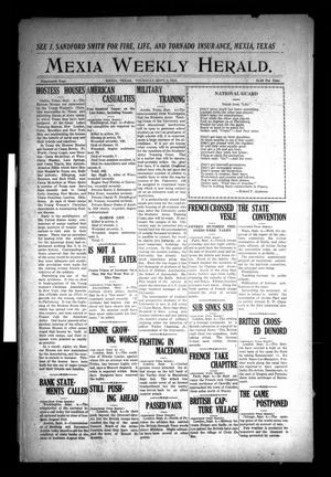 Primary view of object titled 'The Mexia Weekly Herald (Mexia, Tex.), Vol. 19, Ed. 1 Thursday, September 5, 1918'.