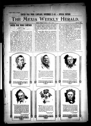 Primary view of object titled 'The Mexia Weekly Herald (Mexia, Tex.), Vol. 19, Ed. 1 Thursday, November 7, 1918'.