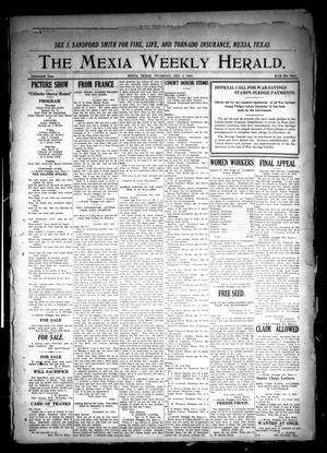 Primary view of object titled 'The Mexia Weekly Herald (Mexia, Tex.), Vol. 19, Ed. 1 Thursday, December 5, 1918'.