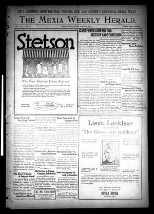 Primary view of object titled 'The Mexia Weekly Herald (Mexia, Tex.), Vol. 22, No. 10, Ed. 1 Friday, March 5, 1920'.