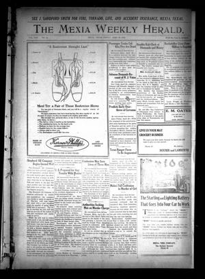 Primary view of object titled 'The Mexia Weekly Herald (Mexia, Tex.), Vol. 22, No. 18, Ed. 1 Friday, April 30, 1920'.