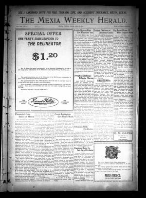 Primary view of object titled 'The Mexia Weekly Herald (Mexia, Tex.), Vol. 22, No. 16, Ed. 1 Friday, April 16, 1920'.