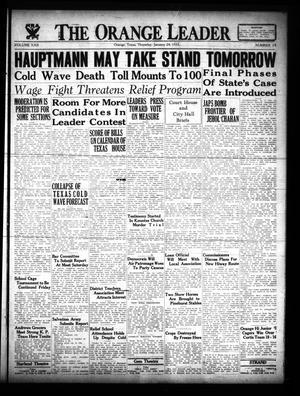 Primary view of The Orange Leader (Orange, Tex.), Vol. 22, No. 19, Ed. 1 Thursday, January 24, 1935