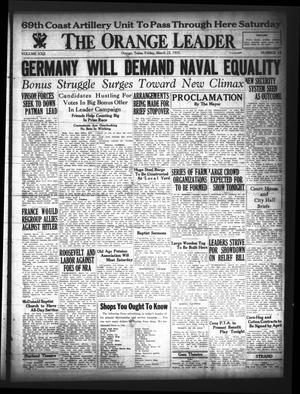 Primary view of The Orange Leader (Orange, Tex.), Vol. 22, No. 64, Ed. 1 Friday, March 22, 1935
