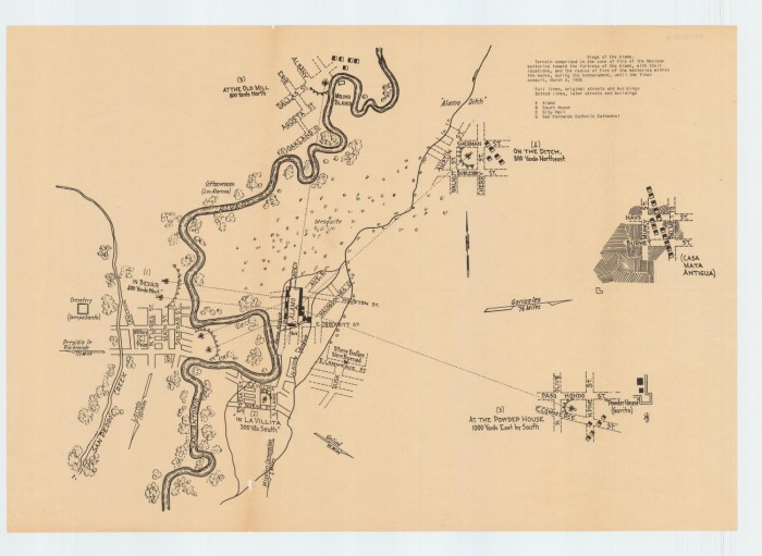 Map Of Texas During The Alamo.Siege Of The Alamo The Portal To Texas History