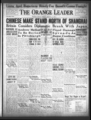 Primary view of The Orange Leader (Orange, Tex.), Vol. 24, No. 301, Ed. 1 Friday, August 27, 1937