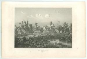 Primary view of object titled '[Engraving of San Antonio, Texas]'.