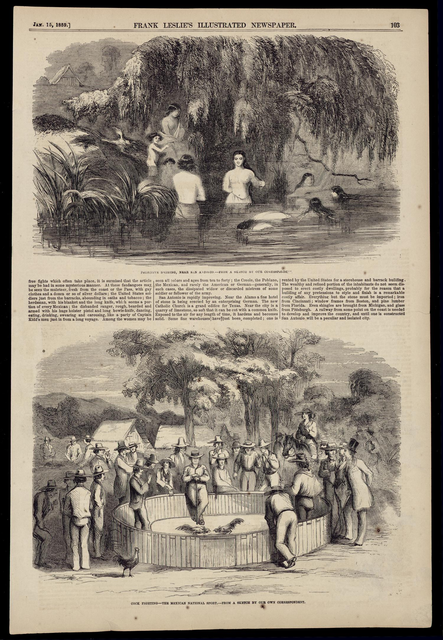 Frank Leslie S Illustrated Newspaper Page 103 The