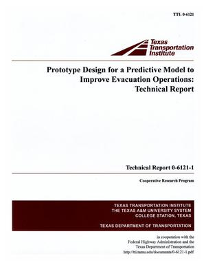 Primary view of object titled 'Prototype design for a predictive model to improve evacuation operations : technical report'.