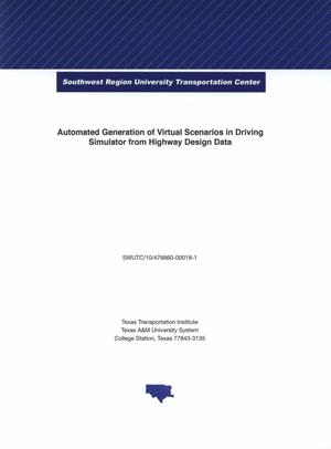 Automated generation of virtual scenarios in driving simulator from highway design data