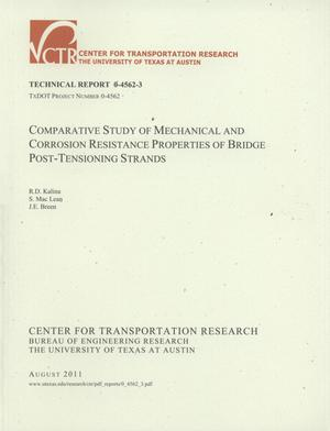 Primary view of object titled 'Comparative study of mechanical and corrosion resistance properties of bridge post-tensioning strands'.
