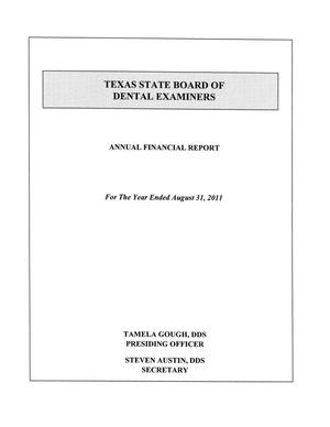 Texas State Board of Dental Examiners Annual Financial Report, 2011