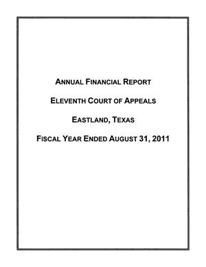 Eleventh Court of Appeals of Texas Annual Financial Report, 2011