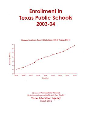 Primary view of object titled 'Enrollment in Texas Public Schools, 2003-2004'.