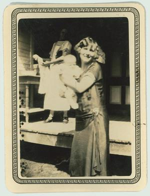 Primary view of object titled '[Eugenia Wallace with baby, and older sister Mal Barton]'.