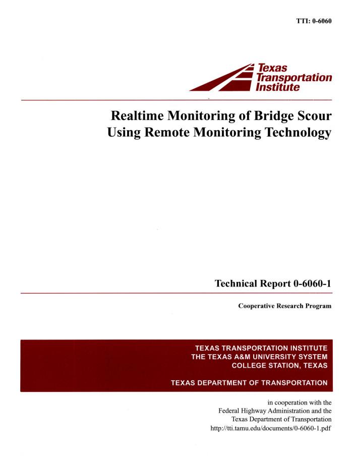 Bridge Scour Monitoring of Bridge Scour