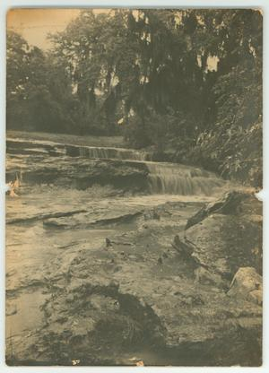 Primary view of object titled '[Photograph of a Water Fall on Wallace Ranch, Texas]'.