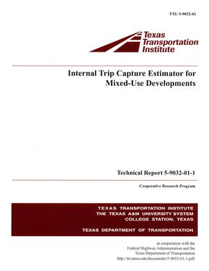 Primary view of object titled 'Internal trip capture estimator for mixed-use developments'.