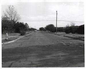 Primary view of object titled 'Frances Way, east from Lois Lane, 1968, Richardson, Texas'.
