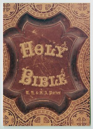 Primary view of object titled '[Cover of the Parker Family Bible]'.