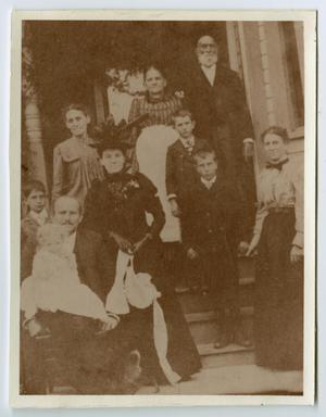 Primary view of object titled '[The Evans Family at Home]'.