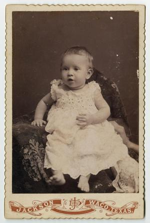 Primary view of object titled '[Baby Portrait of Nannie Clara Evans]'.