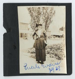 Primary view of object titled '[Lucile Evans at a Shopping Center]'.