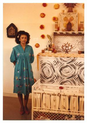 Primary view of object titled '[Woman Next to Altar]'.